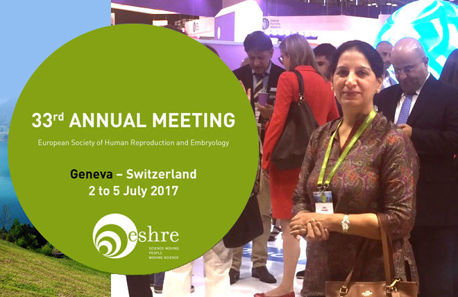 IVF specialist attends 33rd Annual Meeting of ESHRE 2017